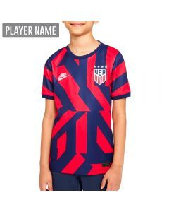 Nike USA Away 4-Star Youth Soccer Jersey '21–'22 (Loyal Blue/Speed Red/White)