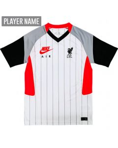 Nike Liverpool Air Max Youth Soccer Jersey '20-'21 (White/Laser Crimon/Wolf Grey/Black)
