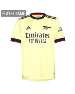 Adidas Arsenal Away Youth Soccer Jersey '21-'22 (Pearl Citrine)