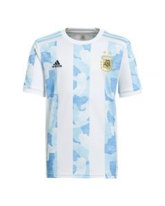 Adidas Argentina '20-'21 Home Youth Soccer Jersey (White/Clear Blue)