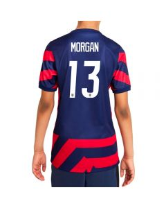 Nike USA Away 4-Star 'MORGAN 13' Youth Soccer Jersey '21–'22 (Loyal Blue/Speed Red/White)